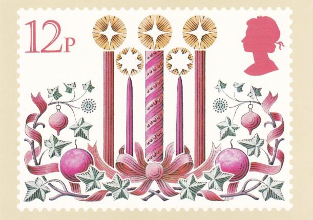 Christmas card 12p 1980